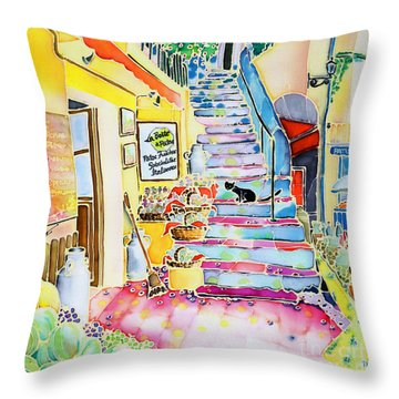 Un Coin De St-tropez Throw Pillow by Hisayo Ohta