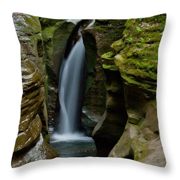 Un-named Falls Throw Pillow