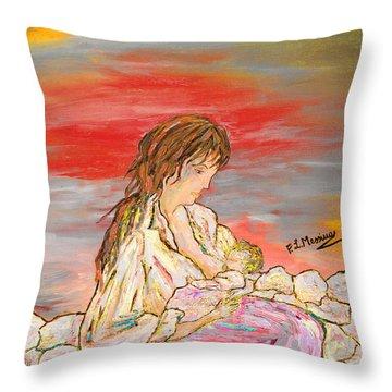 Un Pensiero Costante Throw Pillow by Loredana Messina