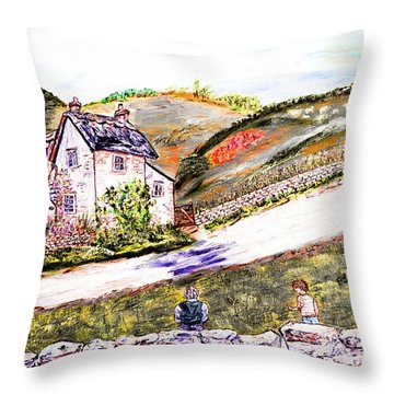 Throw Pillow featuring the painting An Afternoon In June by Loredana Messina
