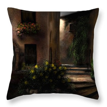 Una Notte Tranquilla - A Quiet Night Throw Pillow