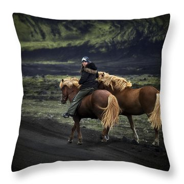 Unable To Stay. Unwilling To Leave. Throw Pillow