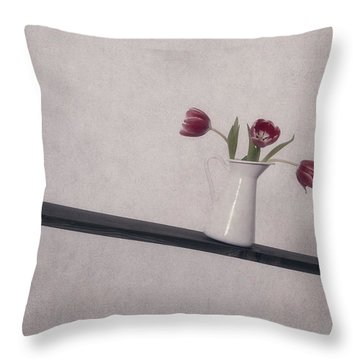 Unbalanced Flowers Throw Pillow by Joana Kruse