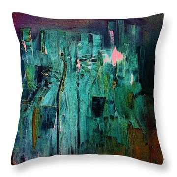 Throw Pillow featuring the painting Unbelievable by Lisa Kaiser