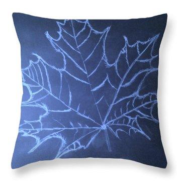 Uncertaintys Leaf Throw Pillow