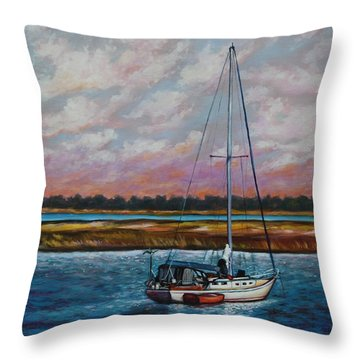 Uncharted Territory Throw Pillow by Eve  Wheeler