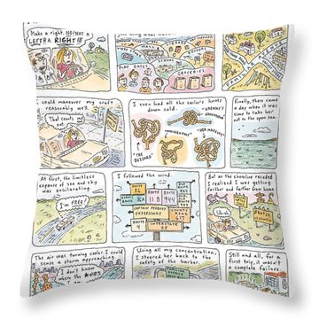 'uncharted Waters' Throw Pillow