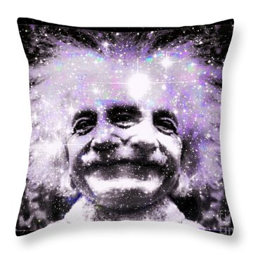 Uncle Albert Throw Pillow by Elizabeth McTaggart