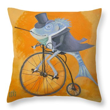 Throw Pillow featuring the painting Uncle Bernard by Marina Gnetetsky