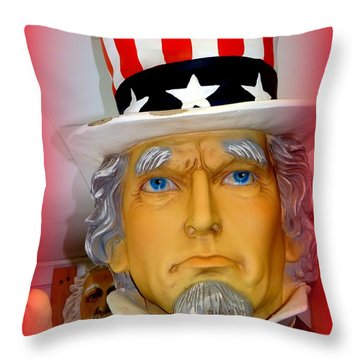 Uncle Sam Wants You Throw Pillow by Ed Weidman