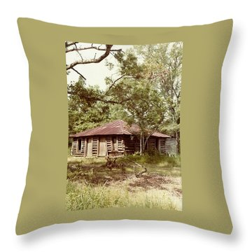 Uncle Toms Cabin Brookhaven Mississippi Throw Pillow by Michael Hoard