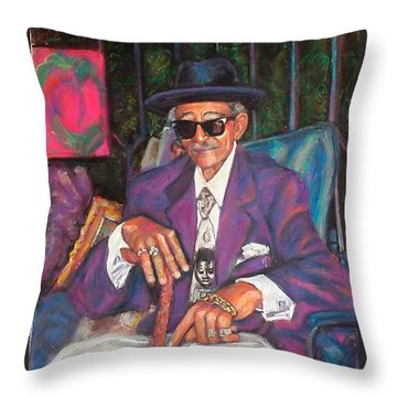 Uncle With Time On His Hands Throw Pillow