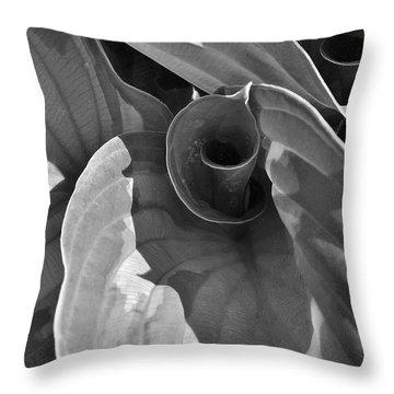 Uncoiling Hostas Throw Pillow