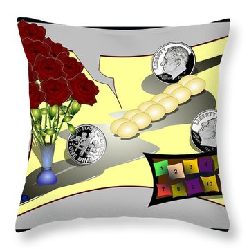 Dime A Dozen Throw Pillow
