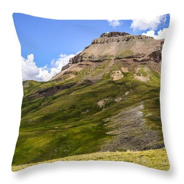 Uncompahgre Peak Throw Pillow