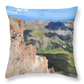 Uncompahgre Peak Summit Throw Pillow by Aaron Spong