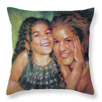 Throw Pillow featuring the drawing Unconditional Love by Viola El