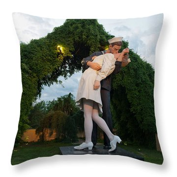 Unconditional Surrender Throw Pillow