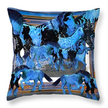 Unconfined World Confined Throw Pillow