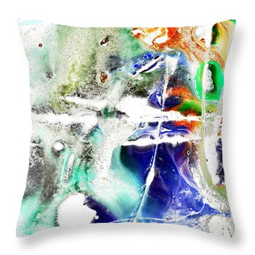 Unconfused Throw Pillow by Christine Ricker Brandt