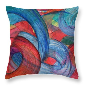 Uncovered Curves Throw Pillow