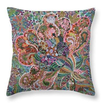 Undaunted Throw Pillow by Erika Pochybova
