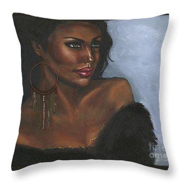 Throw Pillow featuring the painting Undeniable by Alga Washington