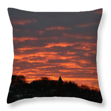 Under A Blood Red Sky Throw Pillow by Neal Eslinger