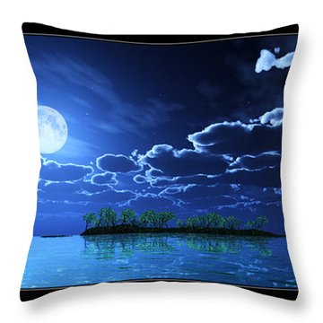 Under A Silvery Moon... Throw Pillow