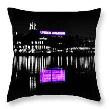 Under Amour At Night - Vibrant Color Splash Throw Pillow