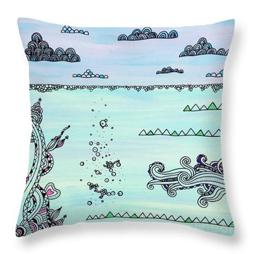 Under And Over Throw Pillow by Susan Claire