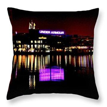 Under Armour At Night Throw Pillow