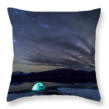 Throw Pillow featuring the photograph Under Big Skies by Aaron Aldrich
