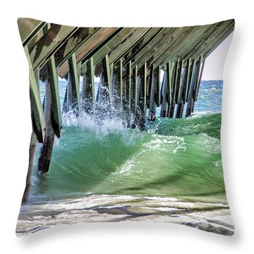 Under Crystal Pier Throw Pillow by Phil Mancuso