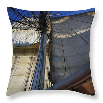 Under Flag Throw Pillow