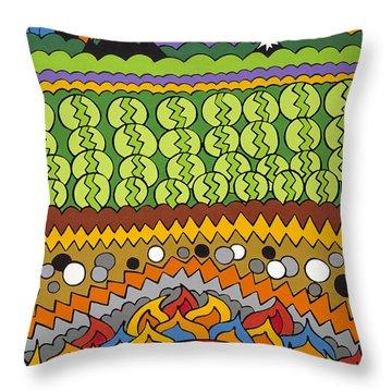 Under Foot Throw Pillow by Rojax Art