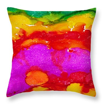 Throw Pillow featuring the painting Under My Garden by Angela Treat Lyon