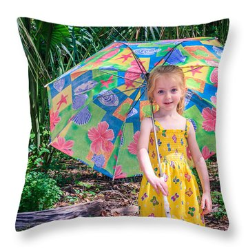 Throw Pillow featuring the photograph Under My Umbrella by Rob Sellers