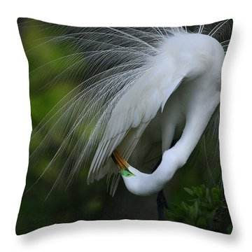Under My Wing Throw Pillow
