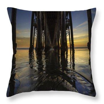 Under The Oceanside Pier 2 Throw Pillow