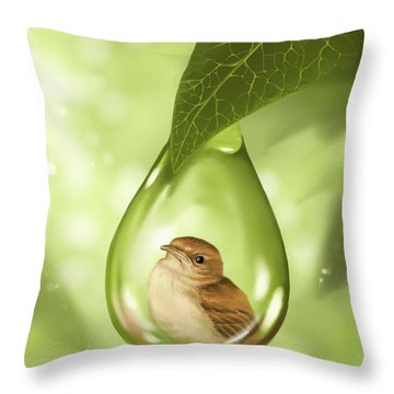 Under Protection Throw Pillow