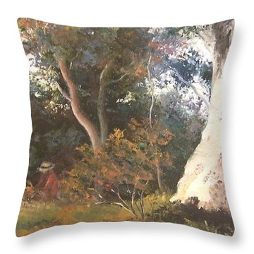 Under The Ancient Gum Tees Throw Pillow by Jan Matson