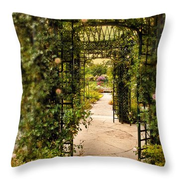 Under The Arbor Throw Pillow
