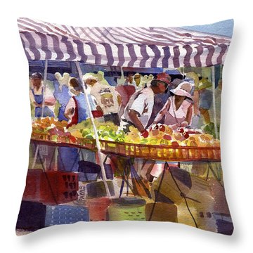 Under The Awning Throw Pillow