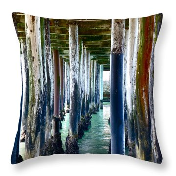 Under The Boardwalk Throw Pillow by Amelia Racca
