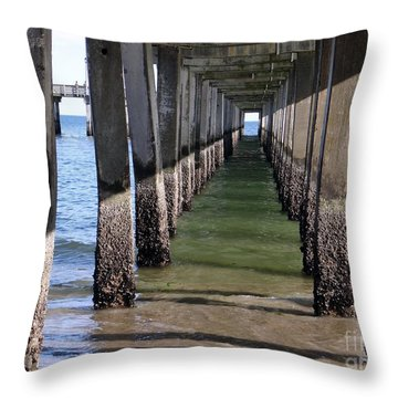 Under The Boardwalk Throw Pillow by Ed Weidman