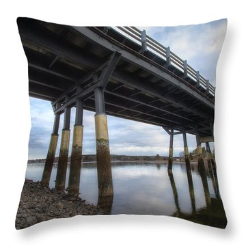 Under The Bridge Throw Pillow by Eric Gendron