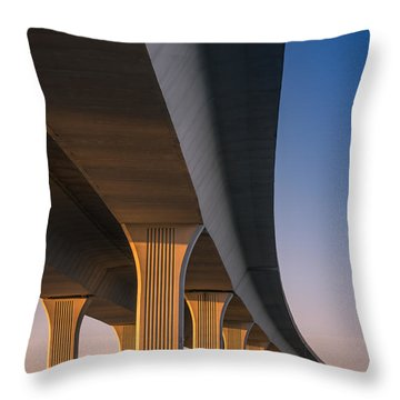 Under The Bridge Throw Pillow by Jola Martysz