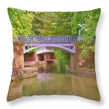 Under The Bridges Throw Pillow