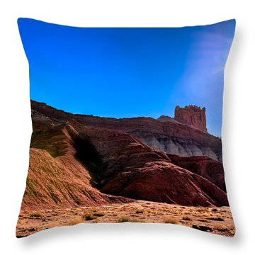Under The Capitol Sun Throw Pillow